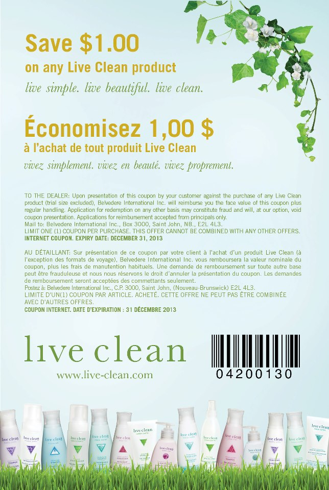 coupon live clean