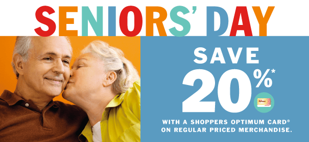 Shoppers Drug Mart is hosting a special Seniors' Bonus Day on Thursday, February 23, where seniors can save 20 per cent plus receive a $10 Shoppers Drug Mart Bonus Card when they spend $50 or more on almost anything in-store.