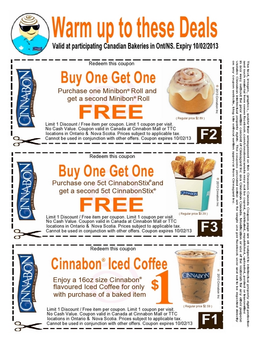 Cinnabon Canada Coupon Winter Warm Up Offer Canadian