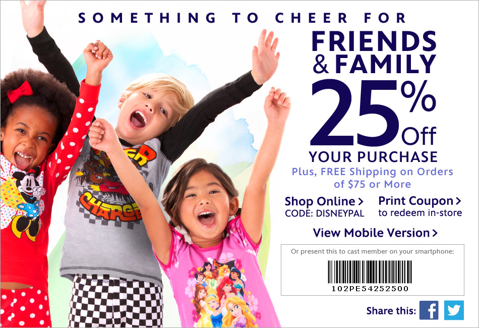disney shopping discount code: