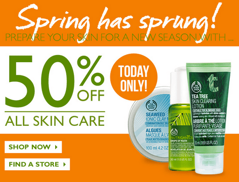 E skin care store coupons