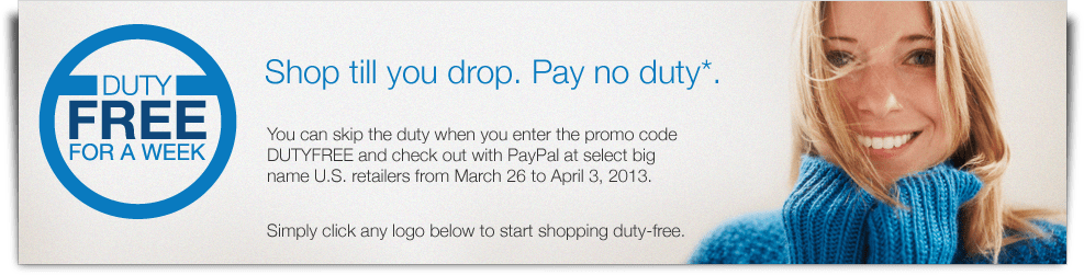 PayPal duty free