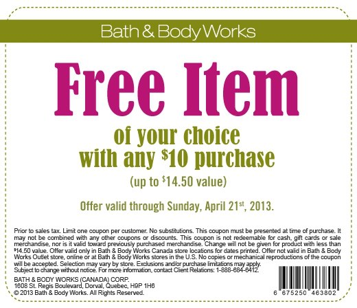 Bath and body works coupon canada june 2018