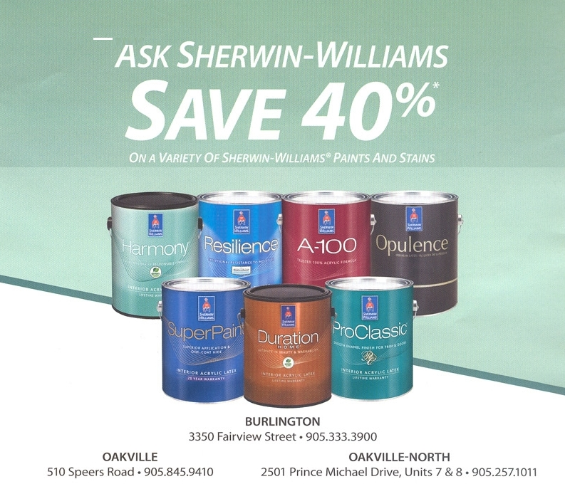 sherwin williams save 40 off on a variety of paints and