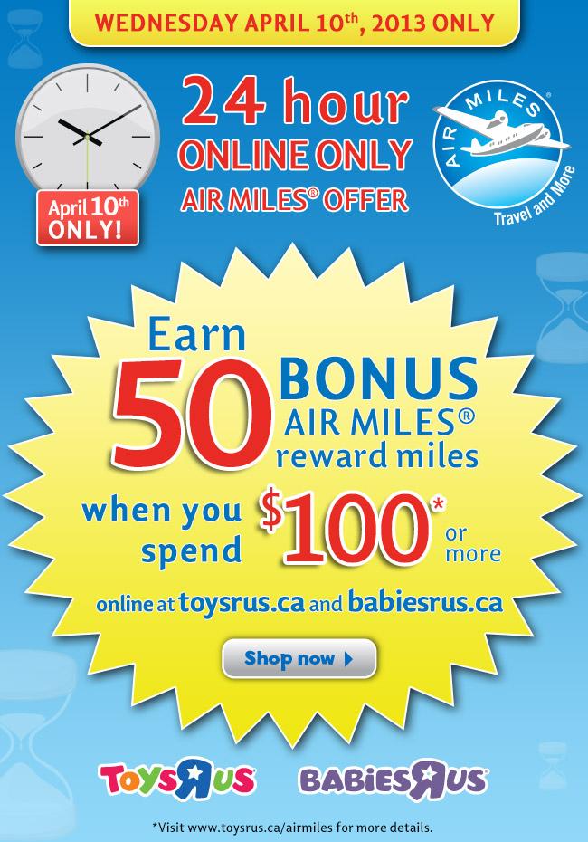 Toys R us Air Miles