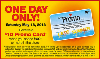 Canadian Tire Offer