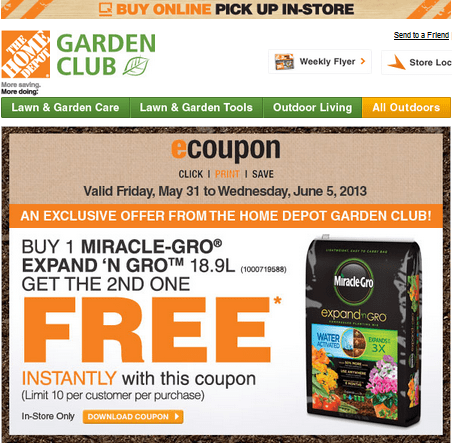 The home depot garden club coupon buy 1 miracle gro - Home depot garden center coupons ...