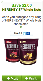 HERSHEY'S Whole Nuts