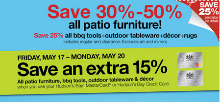 Home Outfitters Canada Offer Save 30 50 On All Patio Furniture Canadian Freebies Coupons
