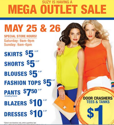 3fda68188a4bb Suzy Suzy 1. Suzy Shier Canada has mega outlet sale ...