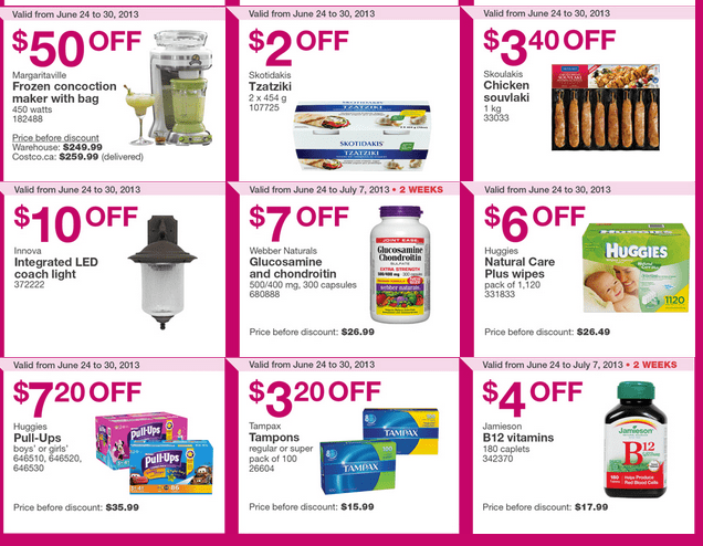 Costco Canada handouts Coupons