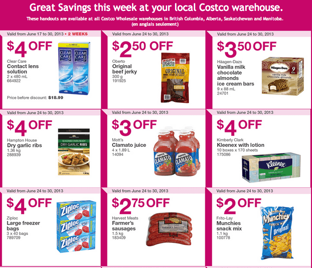 Costco handouts Coupons