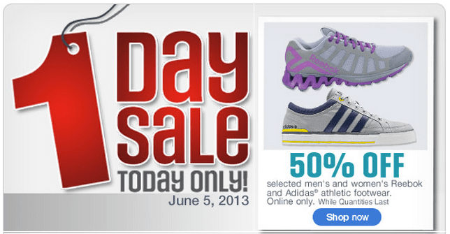 Sears Canada One-day Sale