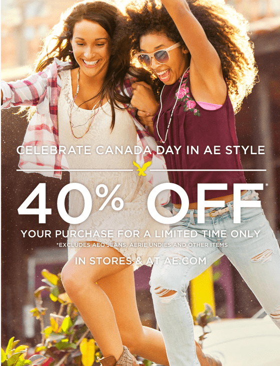 American Eagle Outfitters Canada Day Sale Save 40 Off Your