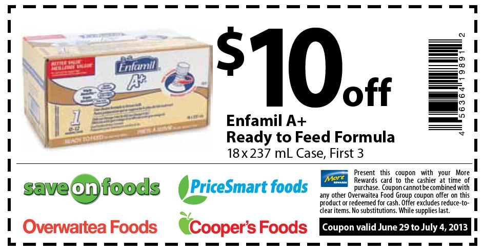 photo about Printable Formula Coupons named Canadian Discount codes: Preserve $10 Upon Enfamil A+ Well prepared towards Feed