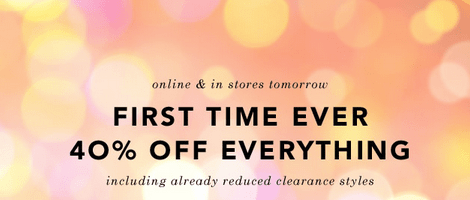 everything online and in-store on sale