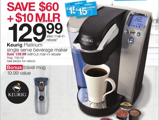 Keurig Coffee Maker Knock Off : Home Outfitters: Keurig Platinum Single Server Beverage Maker for USD 139.99 + USD 10 MIR & Bonus ...