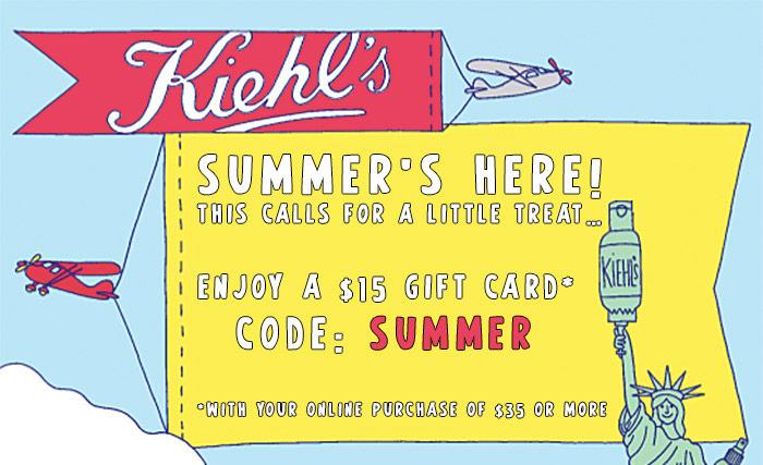 Kiehls $15 off