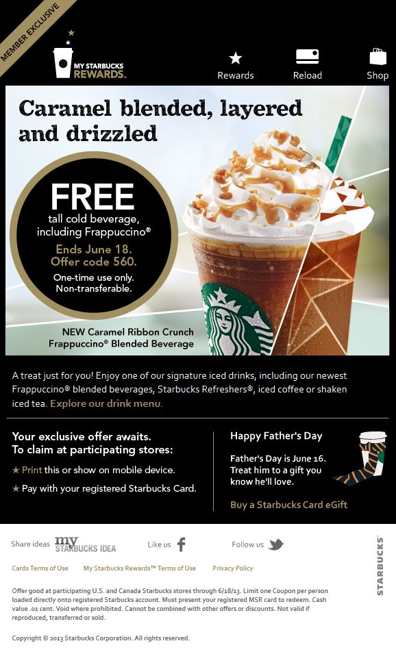Sep 13,  · Latest Coupons. Print Now. B1G1 Clairol Hair Color Coupon Available Again = Only $ After CVS Rewards. 'Here's a drink on us' coming from email address Starbucks@orimono.ga Your free drink coupon will be loaded to your account within 24 hours and is valid for seven days after it's loaded.
