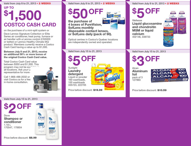 Costco Canada Eastern Weekly Coupons