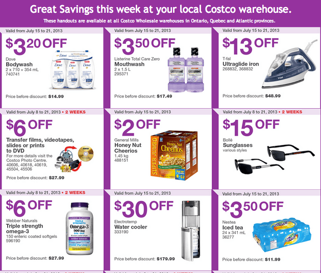 Costco Canada Eastern Weekly Instant Coupons