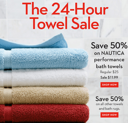 Hudson's Bay Towel Sale