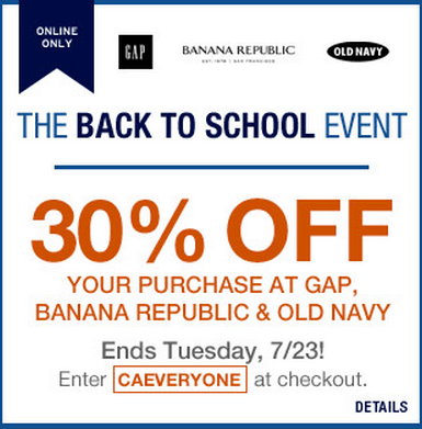 Old Navy BR & Gap Event