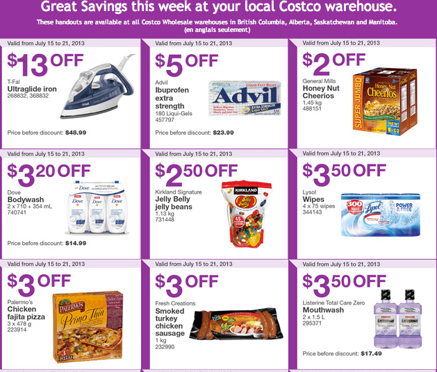 Western Costco Coupons