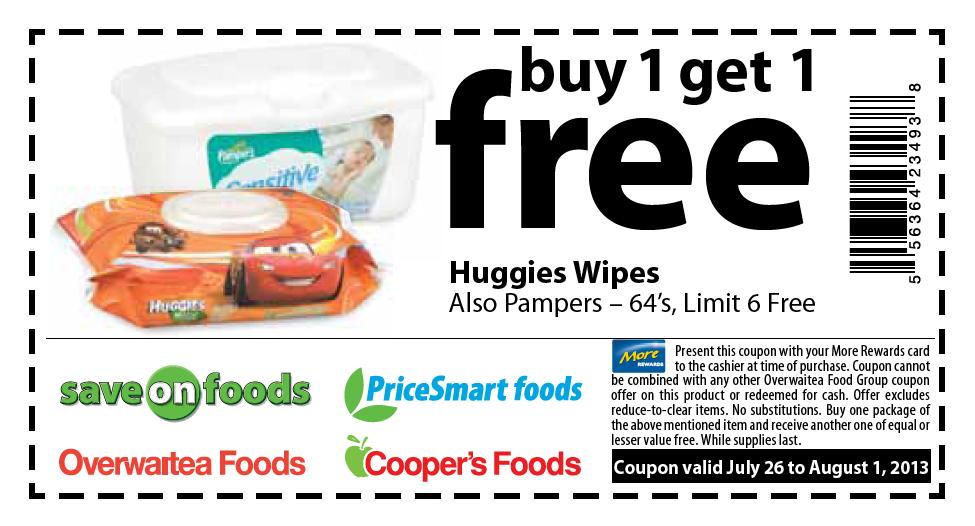 Huggies wipes coupons canada