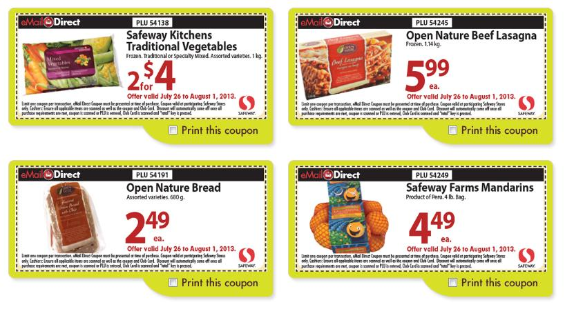 image relating to Safeway Printable Coupons named Safeway Canada Weekly Printable Discount codes July 26th August