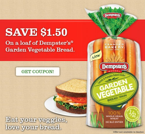 FreshCo: Dempsters Garden Vegetable Bread Only $0.49 After