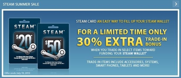 Trade steam coupons for cards
