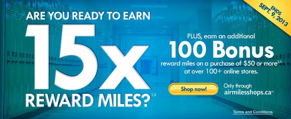 Air Miles 15x