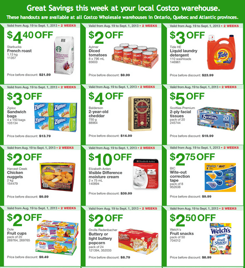Costco Canada Eastern Coupons