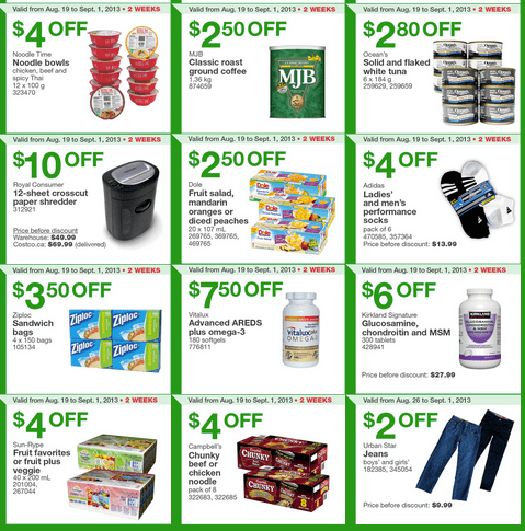 Costco Canada Western Weekly Instant Coupons