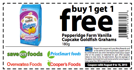 picture about Goldfish Printable Coupons named Pepperidge farm goldfish coupon codes printable : City ladder