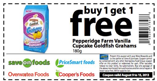 image relating to Goldfish Printable Coupons identified as Pepperidge farm goldfish coupon codes printable : City ladder