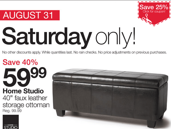 Home Outfitters Canada Deals Storage Ottoman 5999 40 off