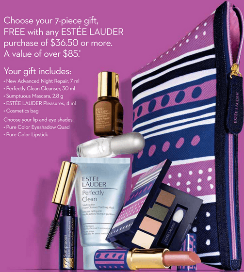 Estée Lauder deal! Get a free Estée Lauder gift with your purchase