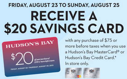 Hudson's Bay Offers