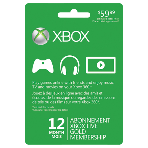 free xbox live gold card 1 month