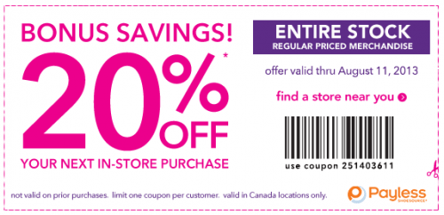 Payless ShoeSource have a new printable coupon available for Payless ...