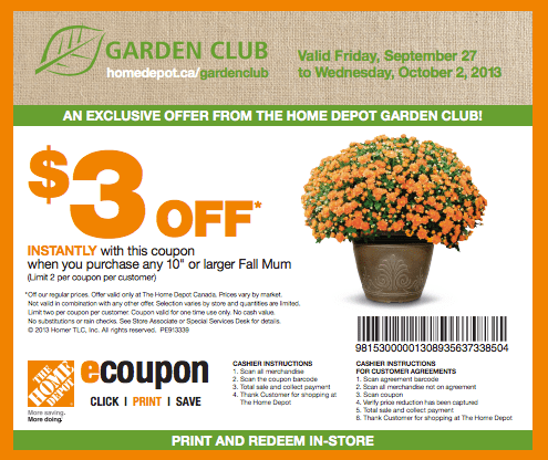 The Home Depot Canada Garden Club Coupons Get 3 Off Any