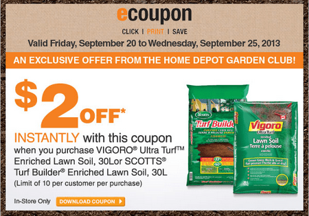 The Home Depot Canada Garden Club Ecoupon Get 2 Off