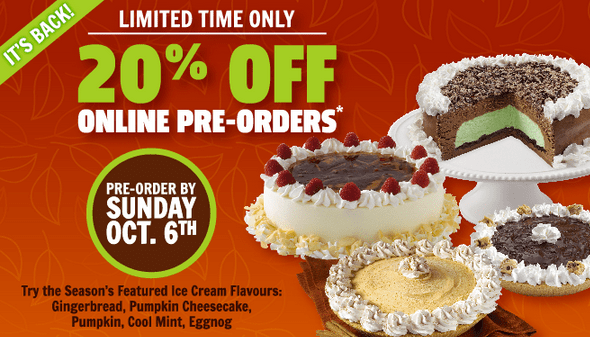 Order Cold Stone Cake Online Canada