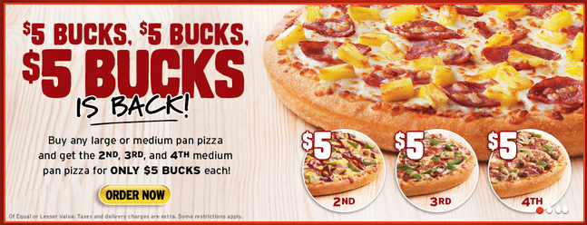 Buck's pizza coupons discounts