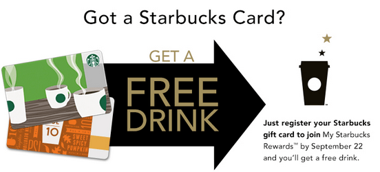 Starbucks Canada Freebie