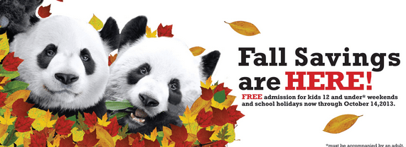 Toronto Zoo Fall Offer