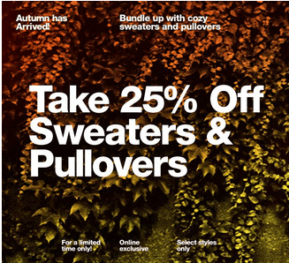 American Apparel Canada Offers Take 25 Off Sweaters