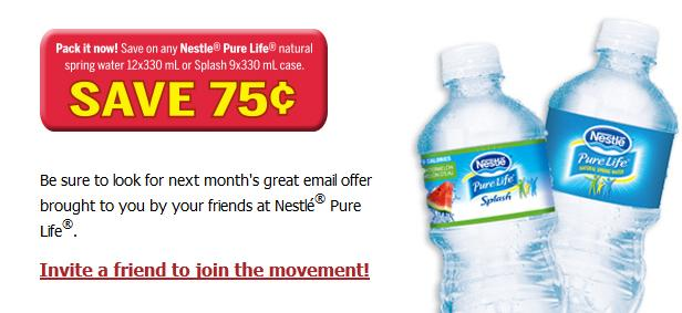 Canadian coupons off nestle pure life natural for Gardening naturally coupon